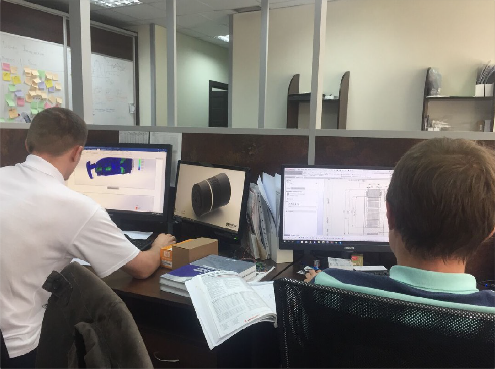 engineering team working on optimization